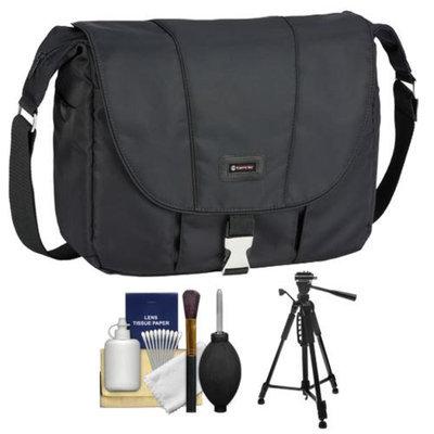 Tamrac 5426 Aria 6 Messenger Photo/iPad Digital SLR Camera Case / Bag (Black) with Tripod + Accessory Kit