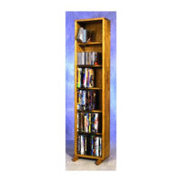 Wood Shed 12.25 in. 6 Row Dowel DVD Tower (Unfinished)