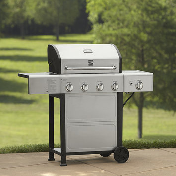 Kenmore 4 Burner Gas Grill With Stainless Steel Lid Silver