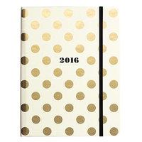 kate spade new york Kate Spade 2016 17-Month Medium Agenda- Gold Dots (153150)