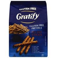 Gratify Gluten Free Sea Salt Pretzel Sticks, 8 oz, (Pack of 6)
