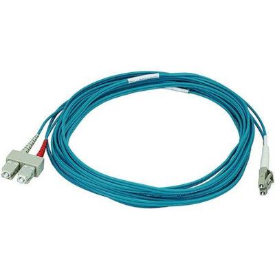 Monoprice 10Gb Fiber Optic Cable, LC/SC, Multi Mode, Duplex - 5 Meter (50/125 Type) - Aqua