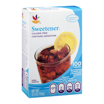 Ahold Sweetener Calorie Free Contains Aspartame - 100 CT