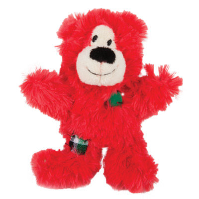 KONGA Patchwork Bear Holiday Cat Toy