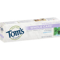 Tom's of Maine Whole Care with Fluoride Natural Toothpaste Gel