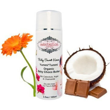 Sweetsation Therapy Yummi*Tummi Organic Baby Choco Butter, with Calendula, 3.3oz