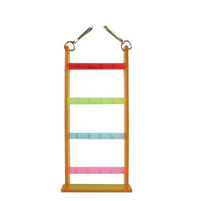 Votoy 814-74326 Vo-Toys Acrylic Four Step Ladder Bird Toy