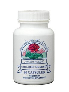 Shilajeet Mumiyo (Replaced upc 642392100380) Ayush Herbs 60 Caps