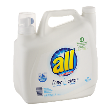 All With Stainlifters Free & Clear Detergent