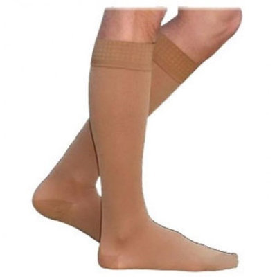 Sigvaris Cotton 232CSLW66-S 20-30 mmHg Womens With Grip Top Socks Crispa - Small Long