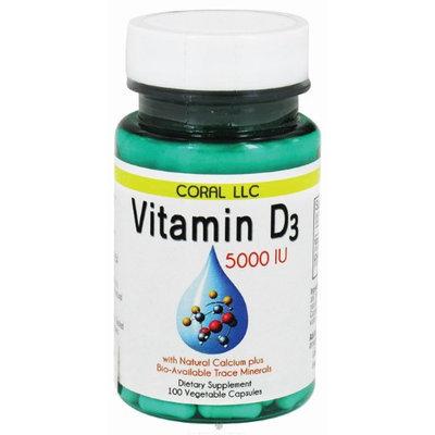 Coral LLC - Vitamin D3 5000 IU - 100 Vegetarian Capsules