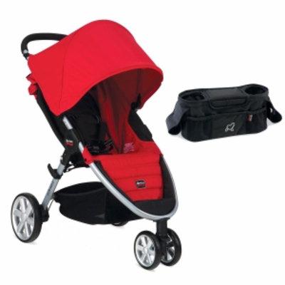 Britax 2014 B-Agile Stroller and Stroller Organizer, Red, 1 ea
