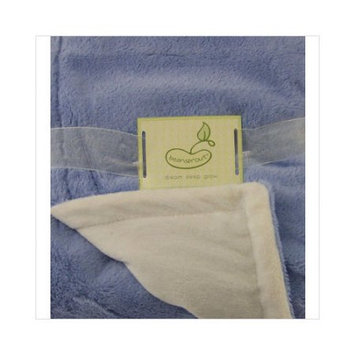 Pem America Luxe Mink to Micro Mink Crib Throw in Blue