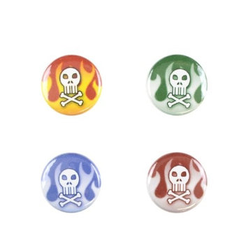 Il Bere C-FYM-D Wine and Drink Charms Mens Collection - Skull and Crossbones