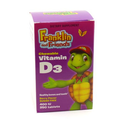 Treehouse Franklin and Friends Vitamin D3 400 IU Natural Factors 250 Chewable