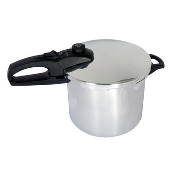Chef Buddy - 4-quart Pressure Cooker - Silver