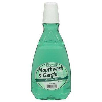 Lander Mouthwash Refreshing Mint (Green) Case Pack 12