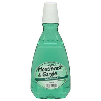Lander Mouthwash Refreshing Mint (Green) Case Pack 12