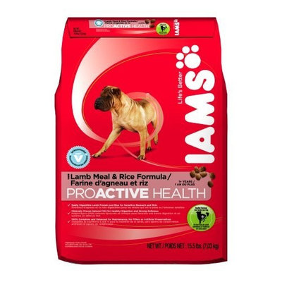 Iams Proactive Health Adult Lamb Meal and Rice, 15.5-Pound Bags