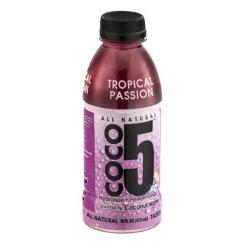 Coco5 All Natural Tropical Passion Coconut Water