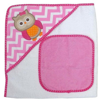 Neat Solutions Owl Hooded Towel and Washcloth Set