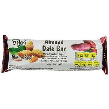 Oskri Organics Oskri Almond Dates Bar, 1.9-Ounce (Pack of 20)