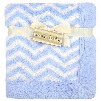 Koala Baby Blanket - Blue Chevron