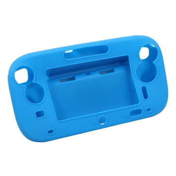 Ids Blue Silicone Soft Case / Cover Skin Protector for Nintendo Wii U Gamepad #10920