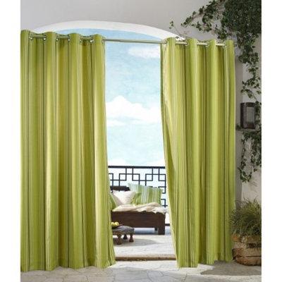 Outdoor Decor Gazebo Stripe Indoor/Outdoor Grommet Top Window Panel -