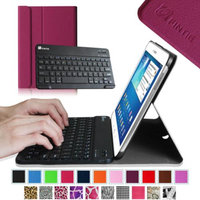 Fintie Wireless Bluetooth Keyboard Case Cover for Samsung Galaxy Tab 3 10.1 Inch Tablet, Purple