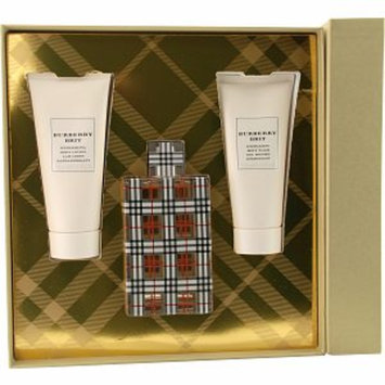 Burberry Brit Eau De Parfum Spray 3.3oz, Body Lotion 3.4oz, Body Wash 3.4oz, 1 set