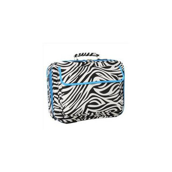 All-Seasons 812010-163-T 17 inch Laptop Computer Case, Teal Trim Zebra
