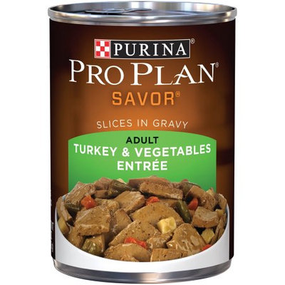 PRO PLAN® SAVOR® ADULT Turkey & Vegetables Entree Slices In Gravy