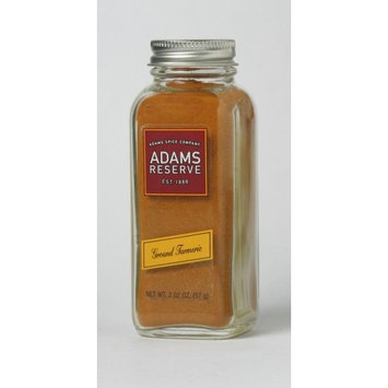 Adams Extracts Turmeric, Ground, 2.02-Ounce Glass Jar (Pack of 6)
