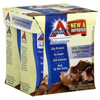 Atkins Advantage Milk Chocolate Delight Nutritional Shakes