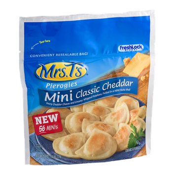 Mrs. T's Mini Pierogies Classic Cheddar - 56 CT