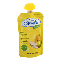 Cottontails 2nd Stage Squeezable Baby Food Pear Squash