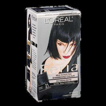 L'Oréal Paris Feria Permanent Haircolour Gel Bright Black 21 Cooler