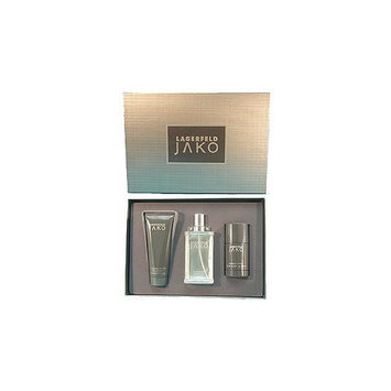 Jako By Karl Lagerfeld For Men. Gift Set ( Eau De Toilette Spray 2.5 Oz + Deodorant Stick 2.5 Oz + Shower Gel & Shampoo 3.4 Oz).