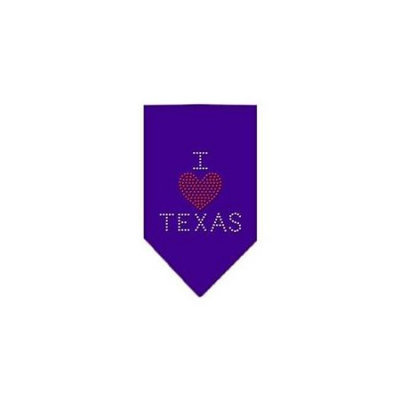 Ahi I Heart Texas Rhinestone Bandana Purple Small