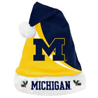 Forever Collectibles NCAA Swoop Logo Santa Hat, University of MichiganWolverines