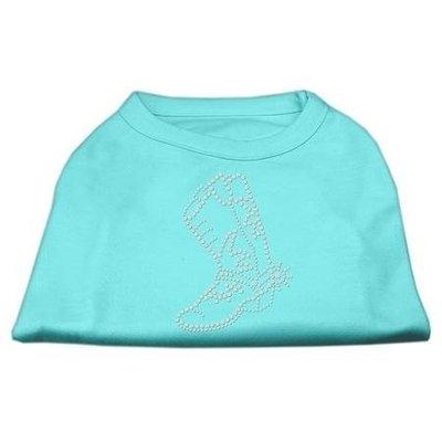 Mirage Pet Products 5214 XXXLAQ Rhinestone Boot Shirts Aqua XXXL 20