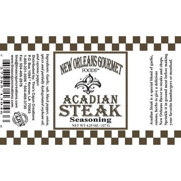 New Orleans Gourmet Acadian Steak Seasoning