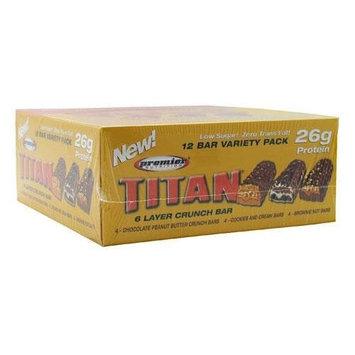 Premier Nutrition Titan Bar Variety 12 Bars