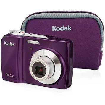 Kodak EasyShare C182 Plum 12MP Digital Camera Bundle, 3x Optical Zoom, 3