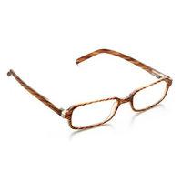 Zoom Eyeworks Zoom Stylish Rectangular Reader, Wood Grain Pattern, +2.00
