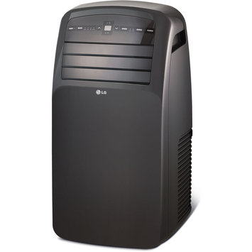 Lg LG LP1214GXR 12,000 BTU Portable Air Conditioner with 9.4 EER, 1.2 Pts/Hr Dehumidification, 400 sq. ft. Cooling Area, 24-Hour Timer, Oscillating Air Vent and Remote Control