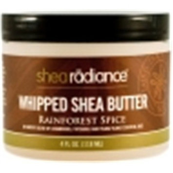 Shea Radiance Rainforest Spice Whipped Shea Butter 2 oz Cream