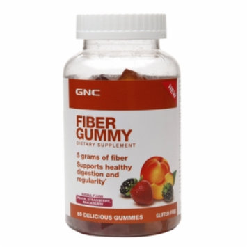 Nutrition Now GNC Fiber Gummy - Peach, Strawberry, Blackberry