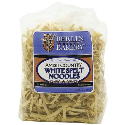 Berlin Natural Bakery, Inc. Spelt Noodles, White, Amish, 12-Ounce (Pack of 3)